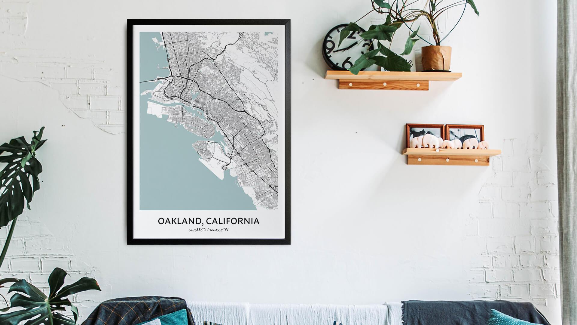 Oakland map art