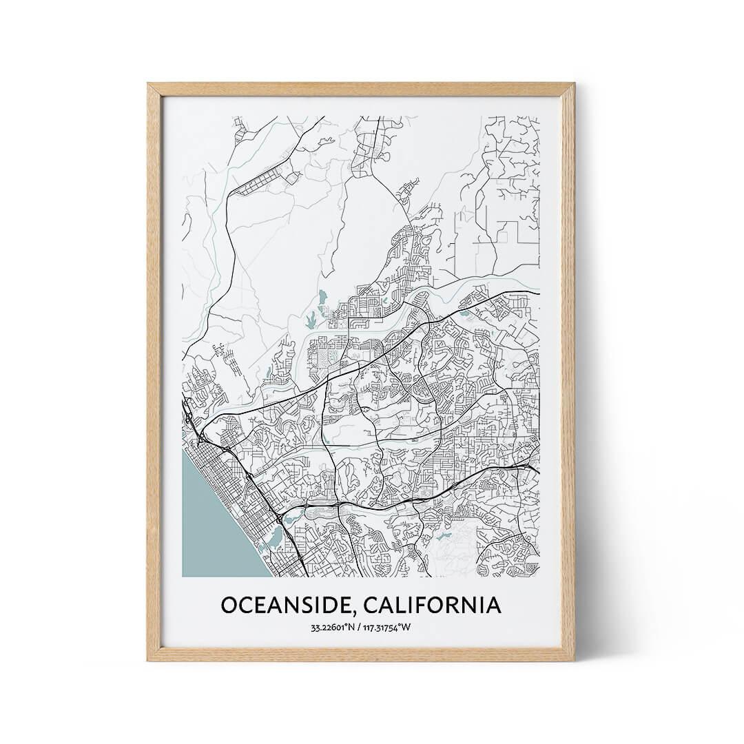 Oceanside city map poster