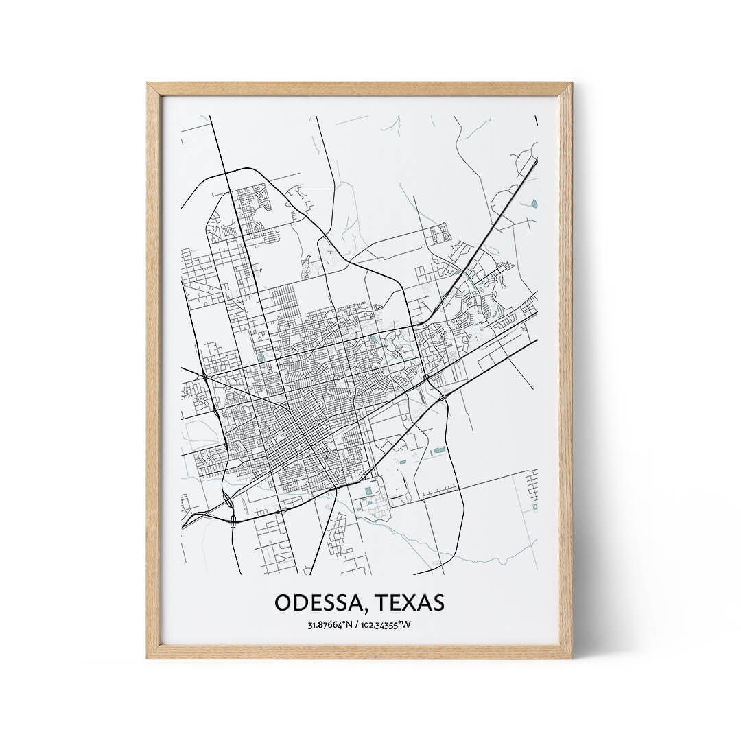 Odessa city map poster