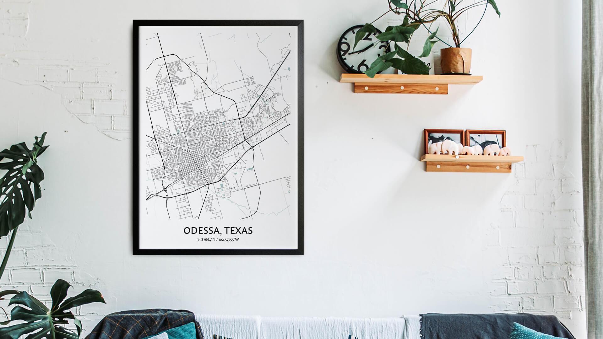 Odessa map art
