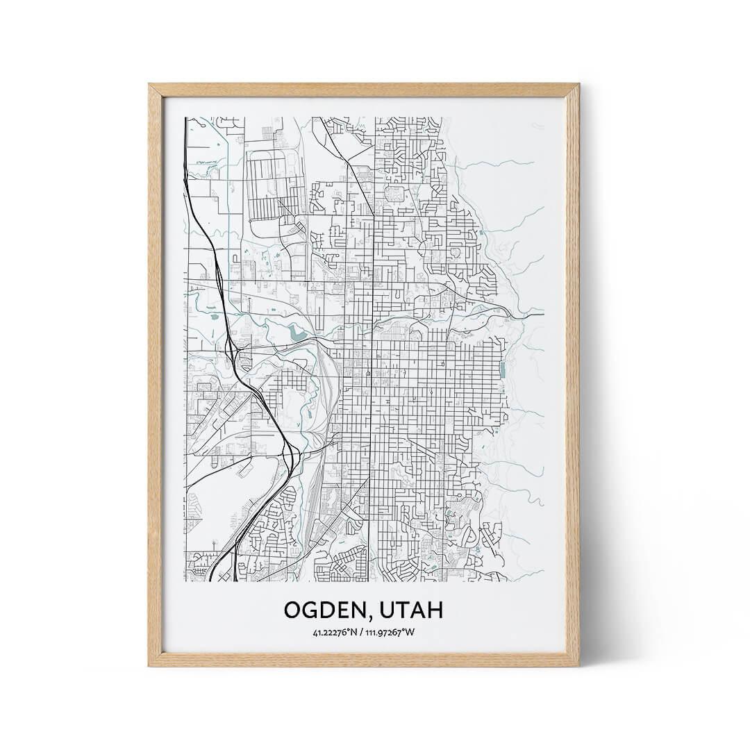 Ogden city map poster