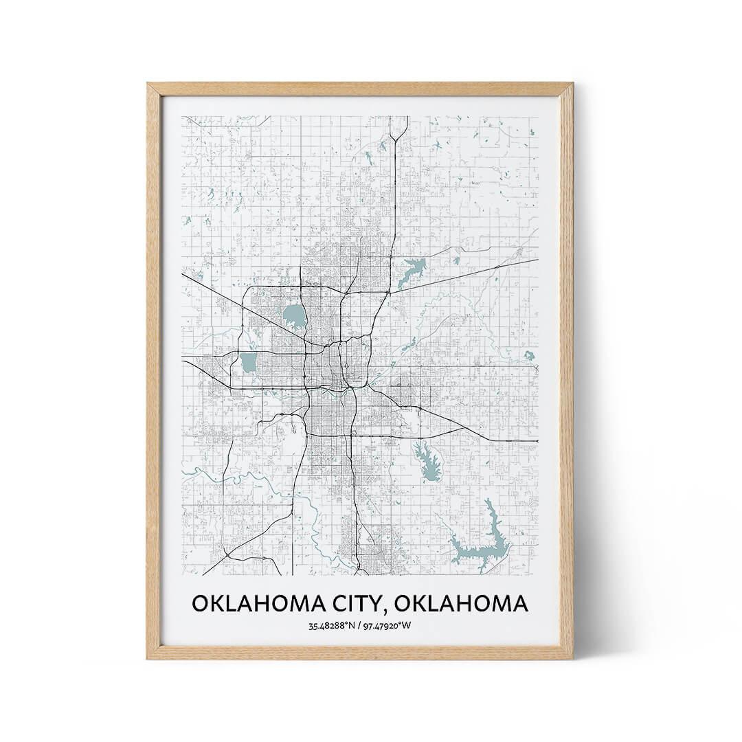 Oklahoma City city map poster