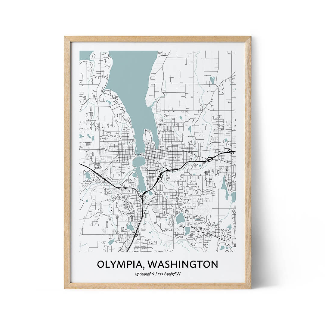 Olympia city map poster