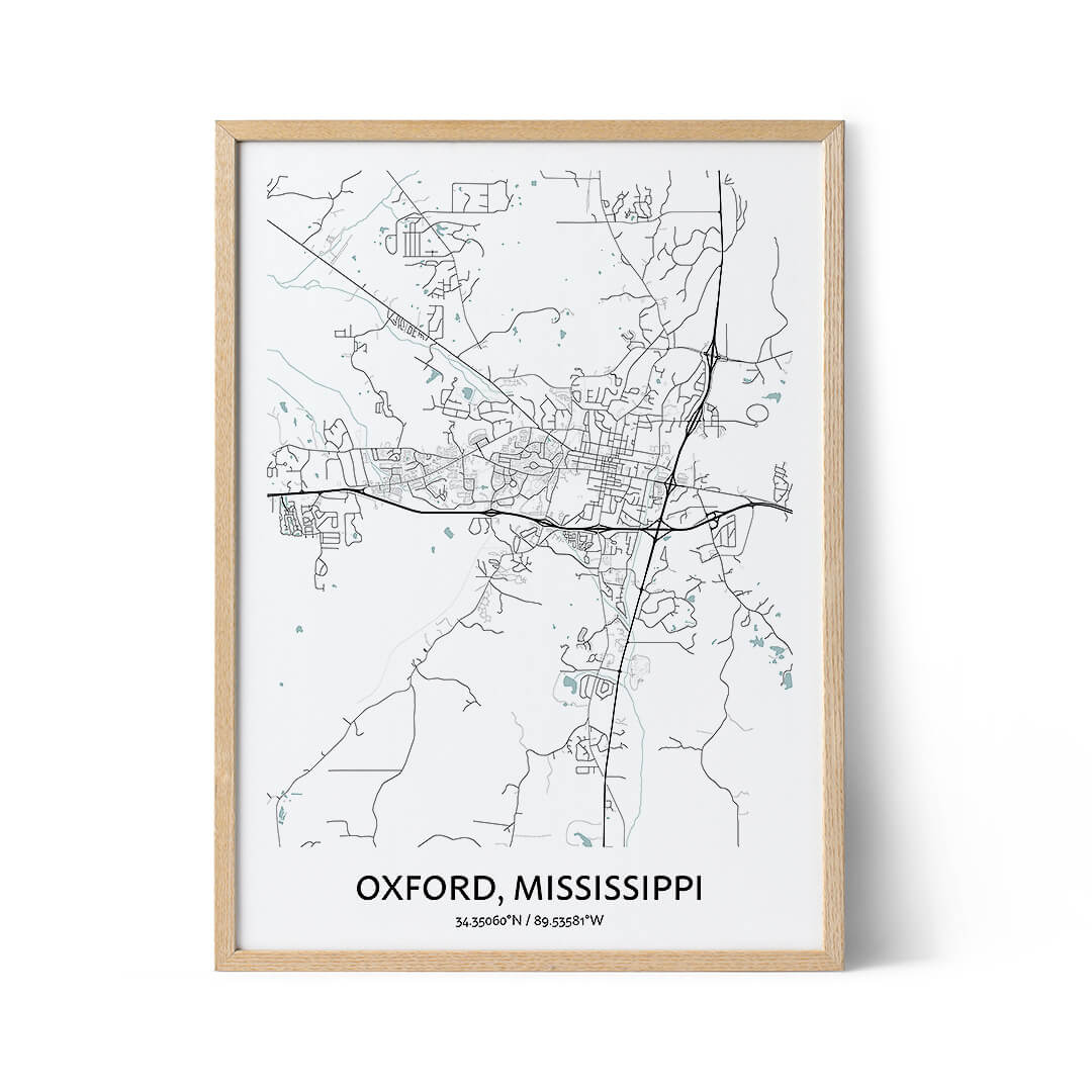 Oxford city map poster