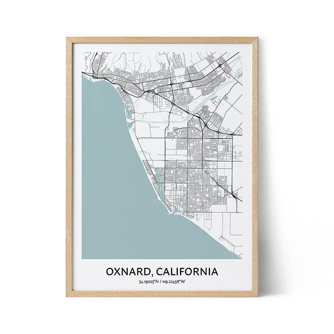 Oxnard city map poster