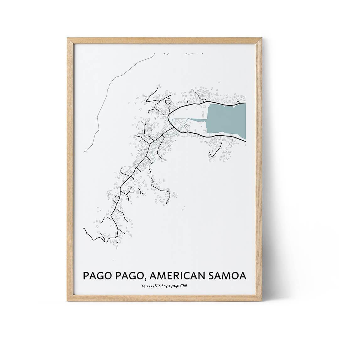 Pago Pago city map poster
