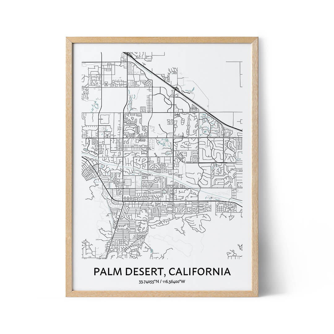 Palm Desert city map poster