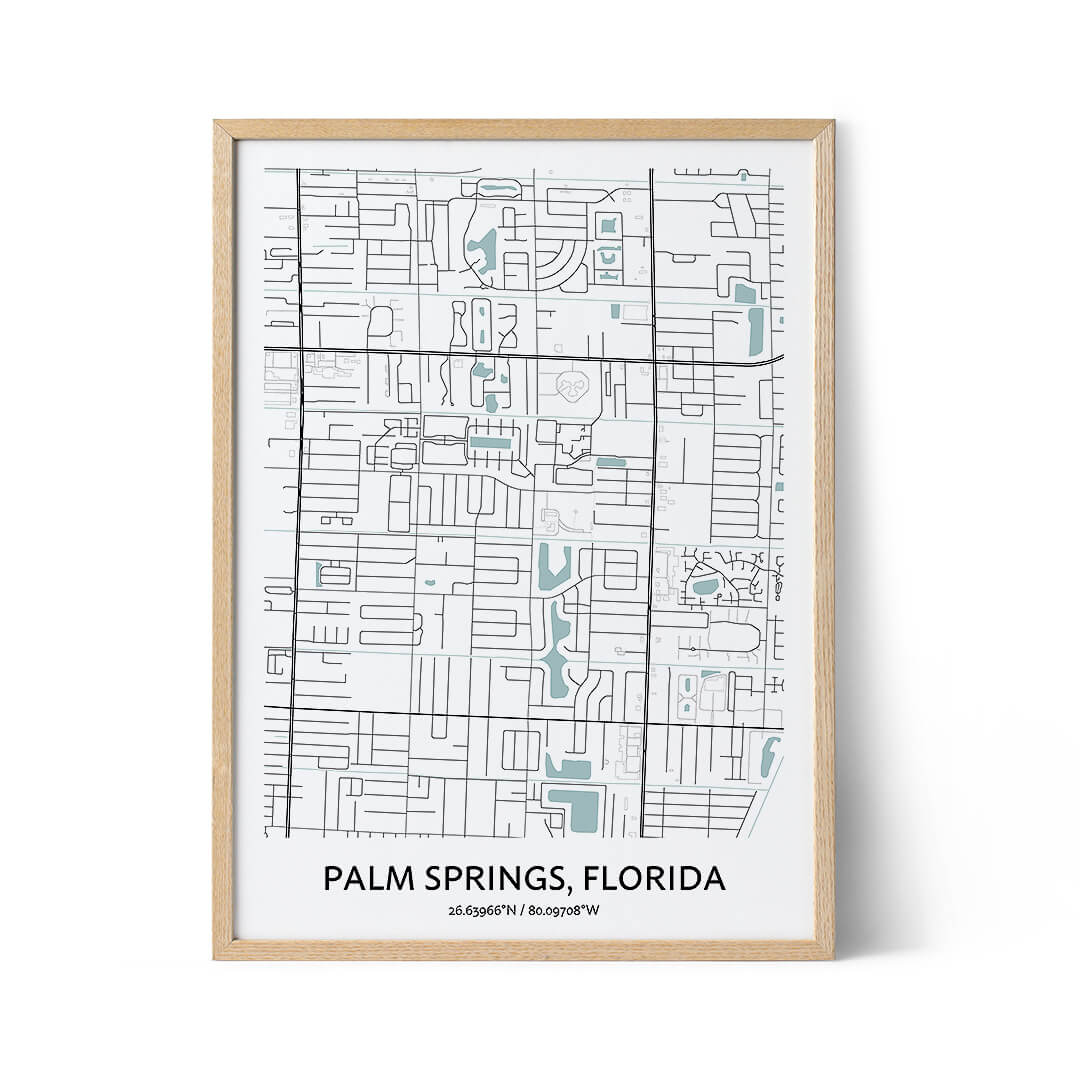 Palm Springs city map poster