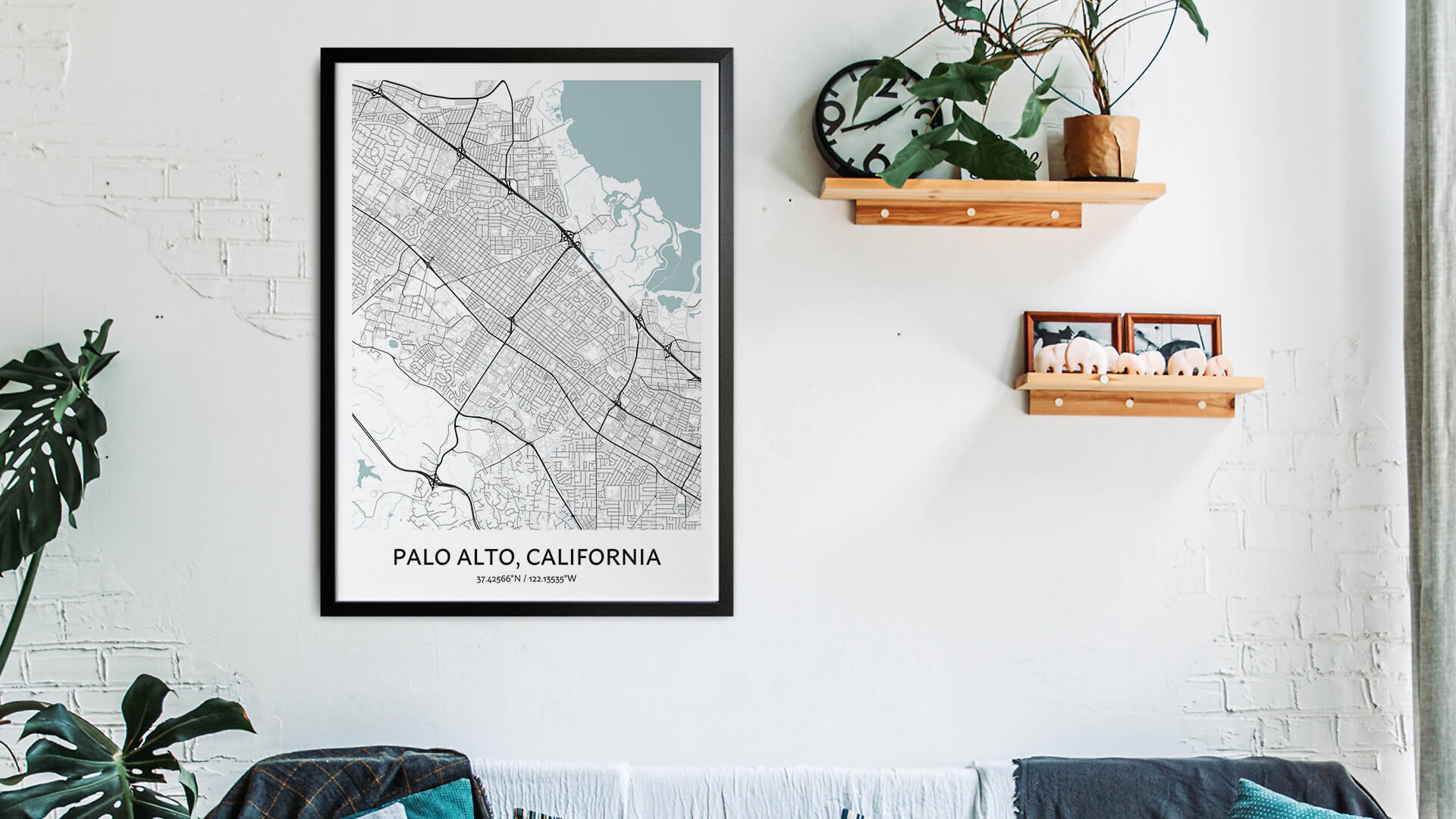 Palo Alto map art
