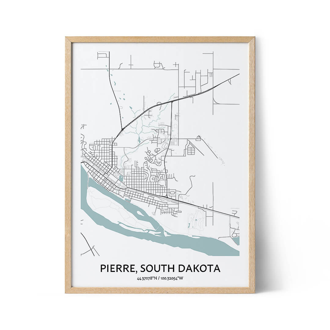Pierre city map poster