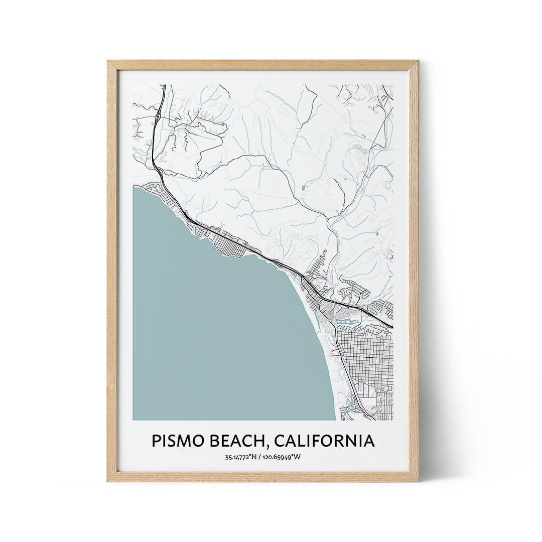 Pismo Beach city map poster