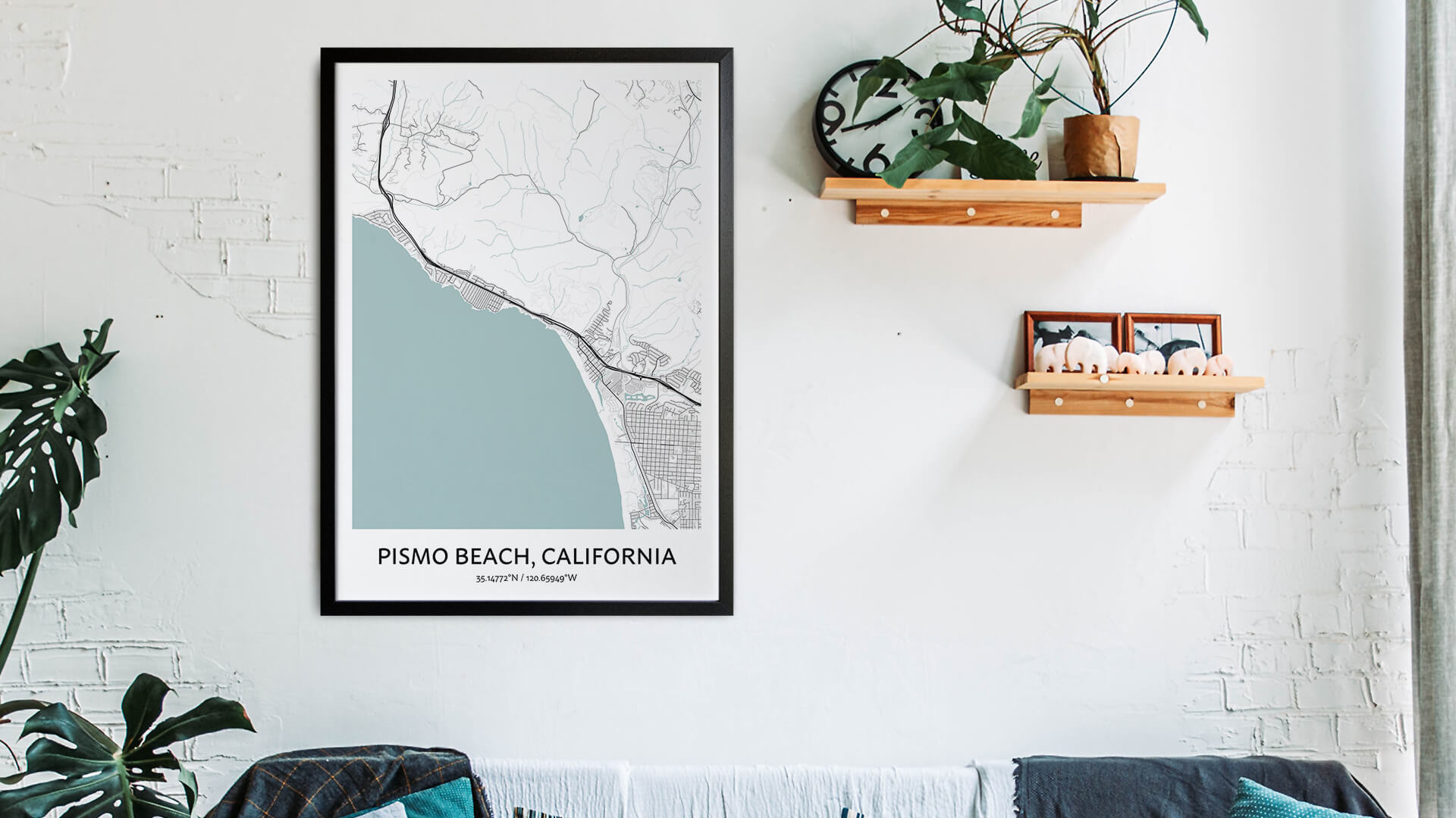 Pismo Beach map art