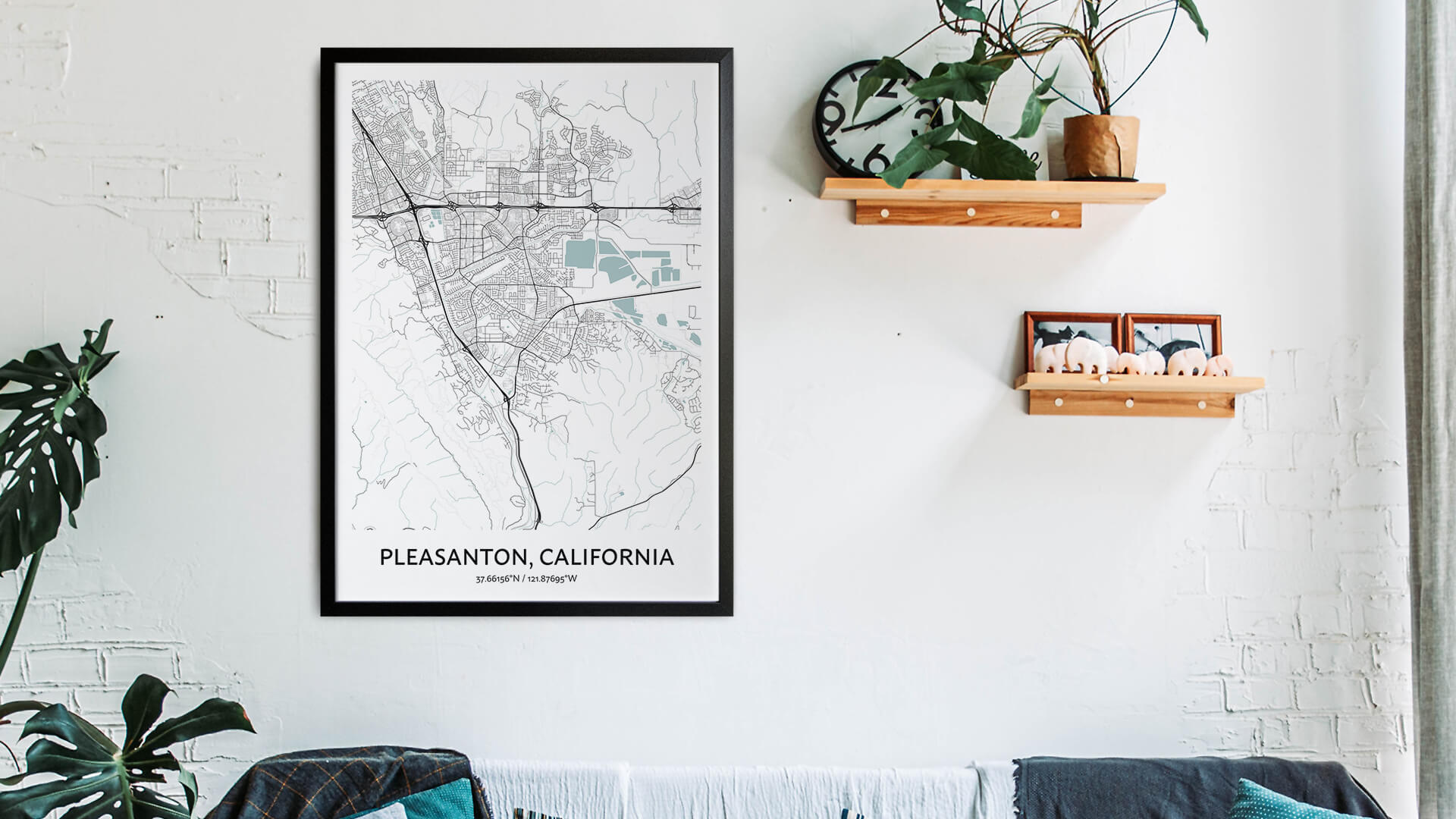 Pleasanton map art