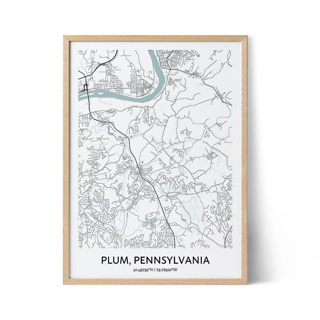 Plum city map poster