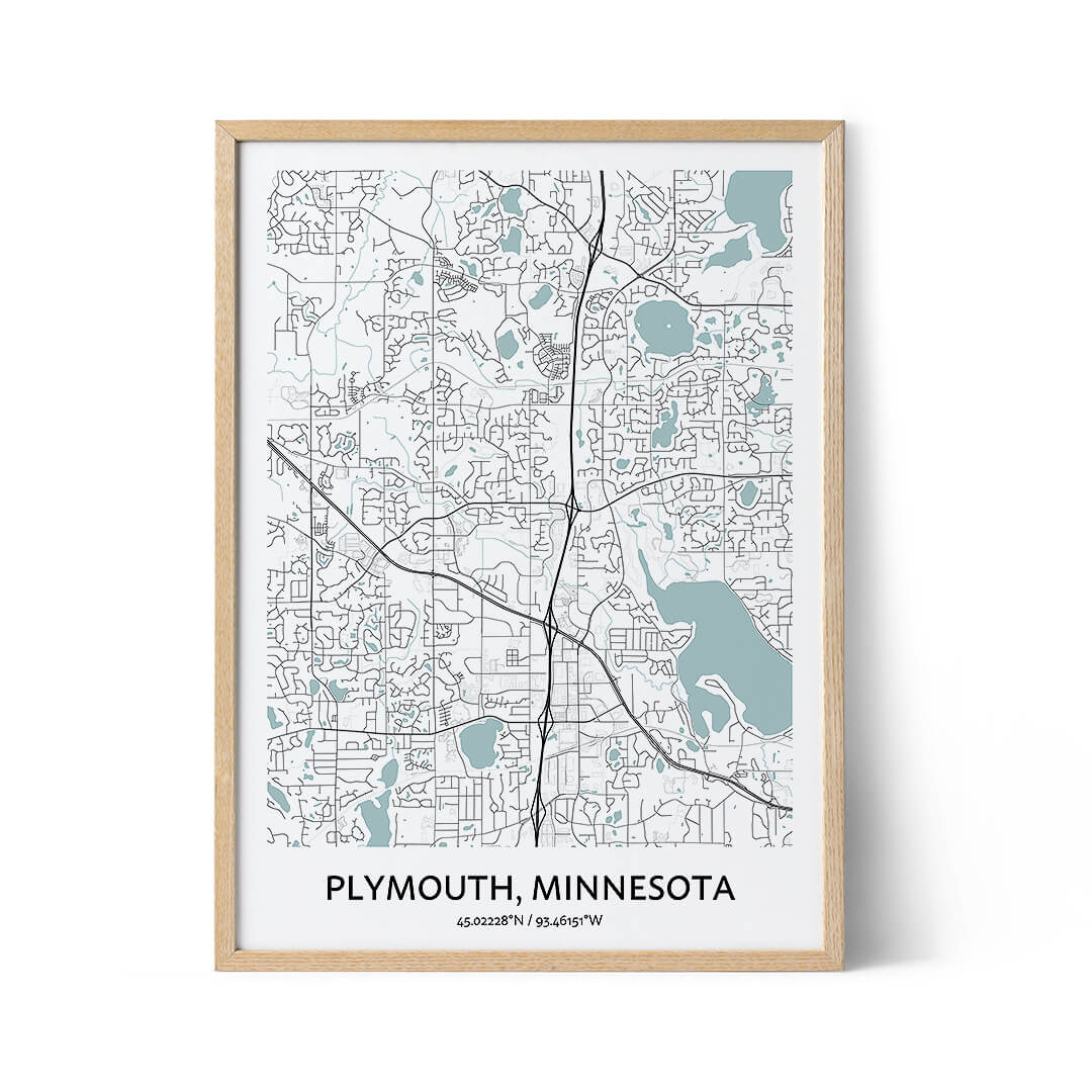 Plymouth city map poster
