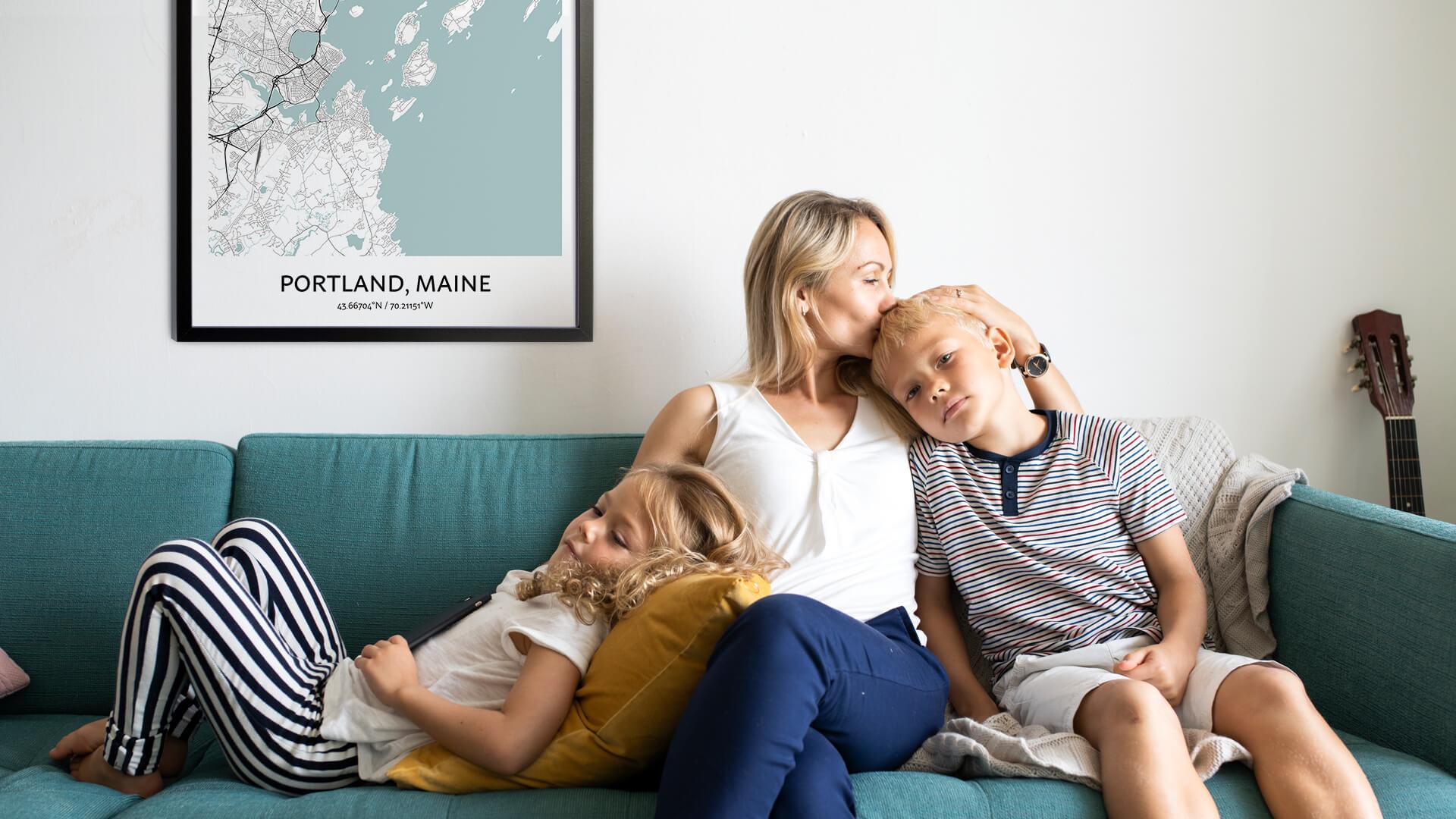 Portland map poster