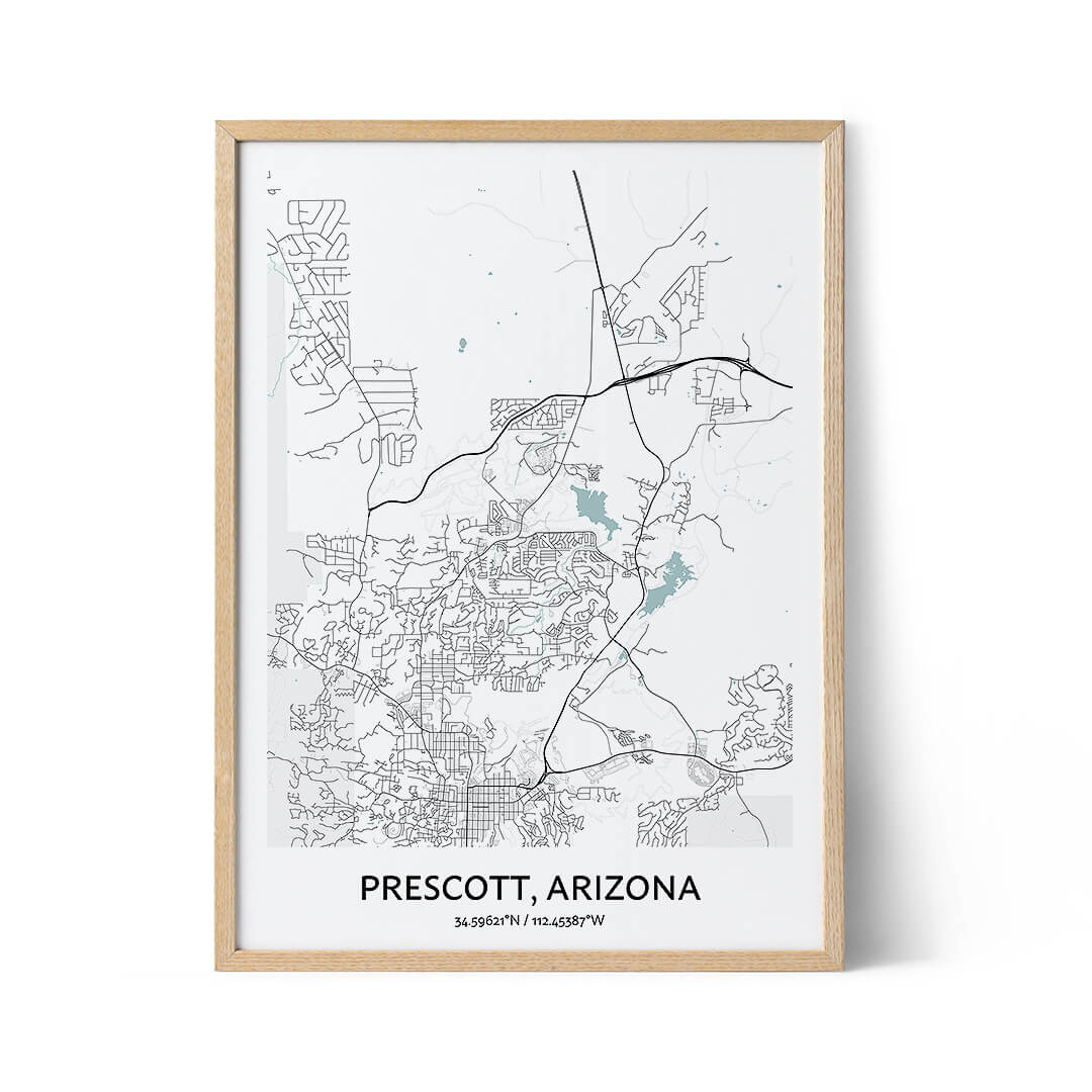 Prescott city map poster