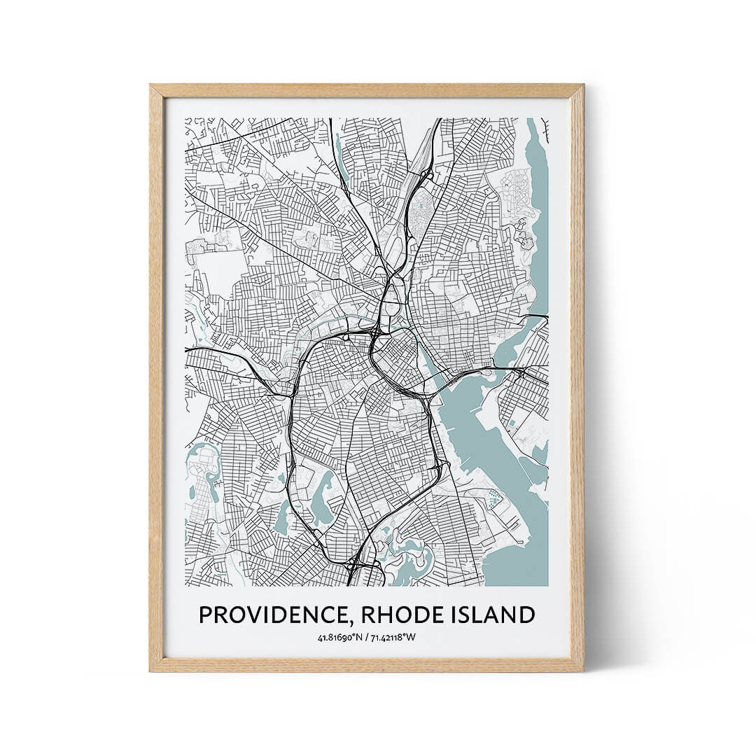 Providence city map poster