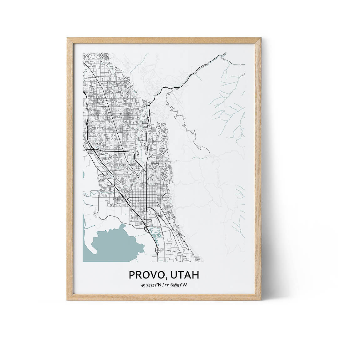 Provo city map poster