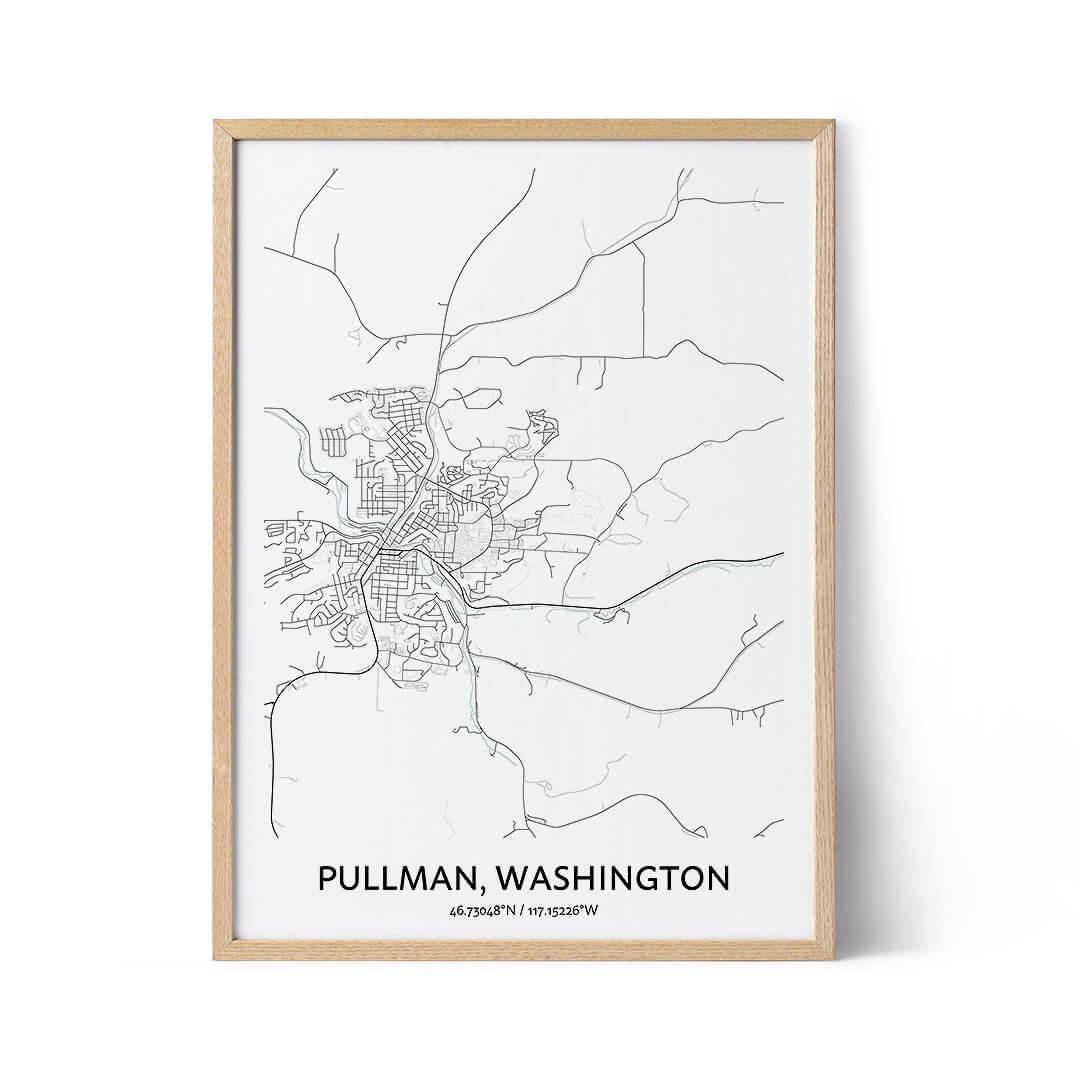 Pullman city map poster