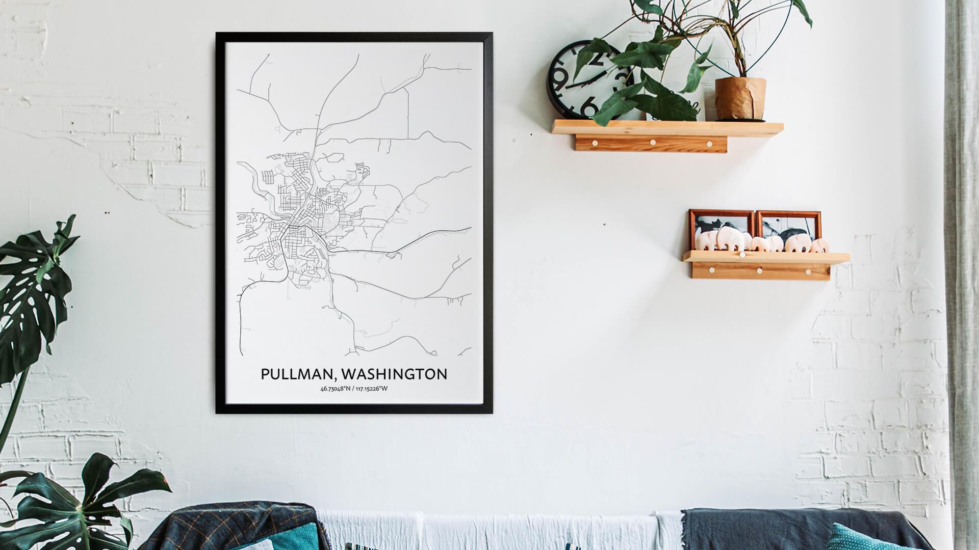Pullman map art