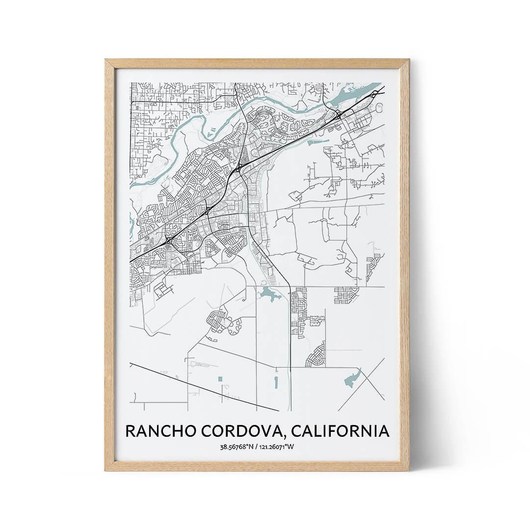 Rancho Cordova city map poster