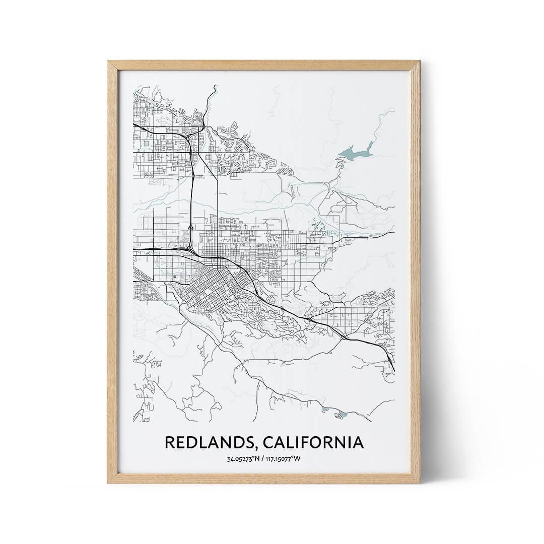 Redlands city map poster