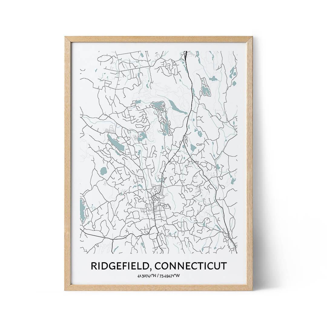 Ridgefield city map poster