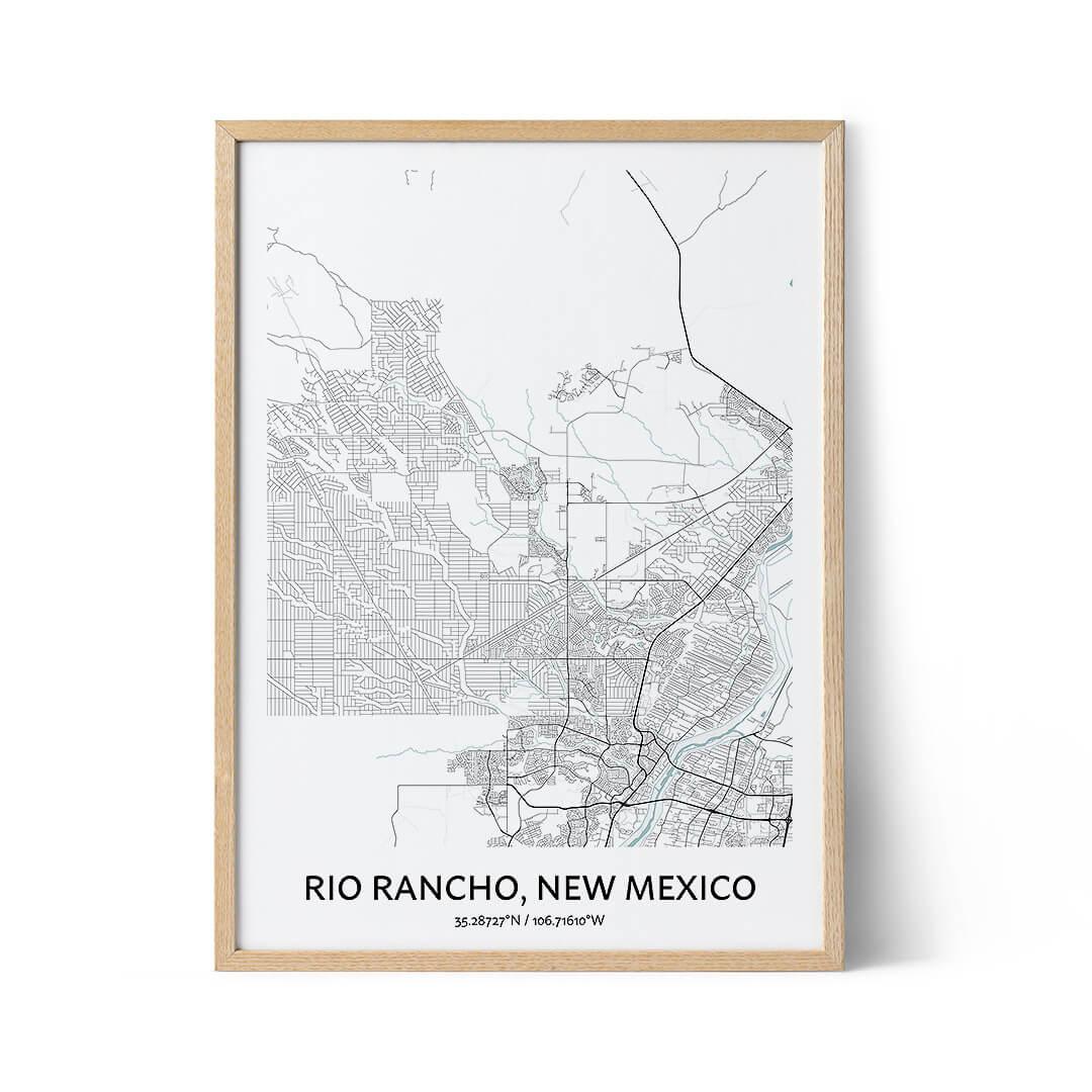 Rio Rancho city map poster