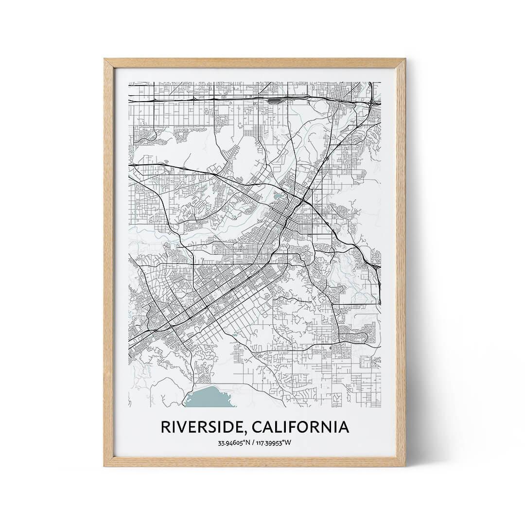 Riverside city map poster