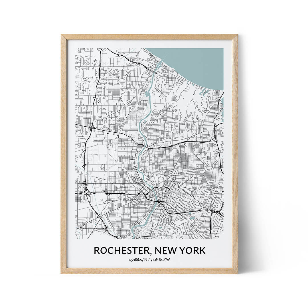 Rochester city map poster