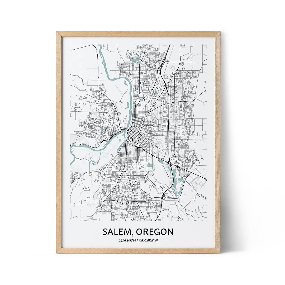 Salem city map poster