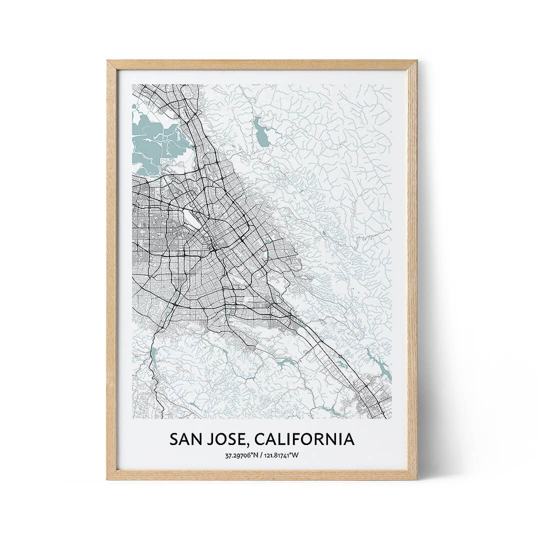 San Jose city map poster