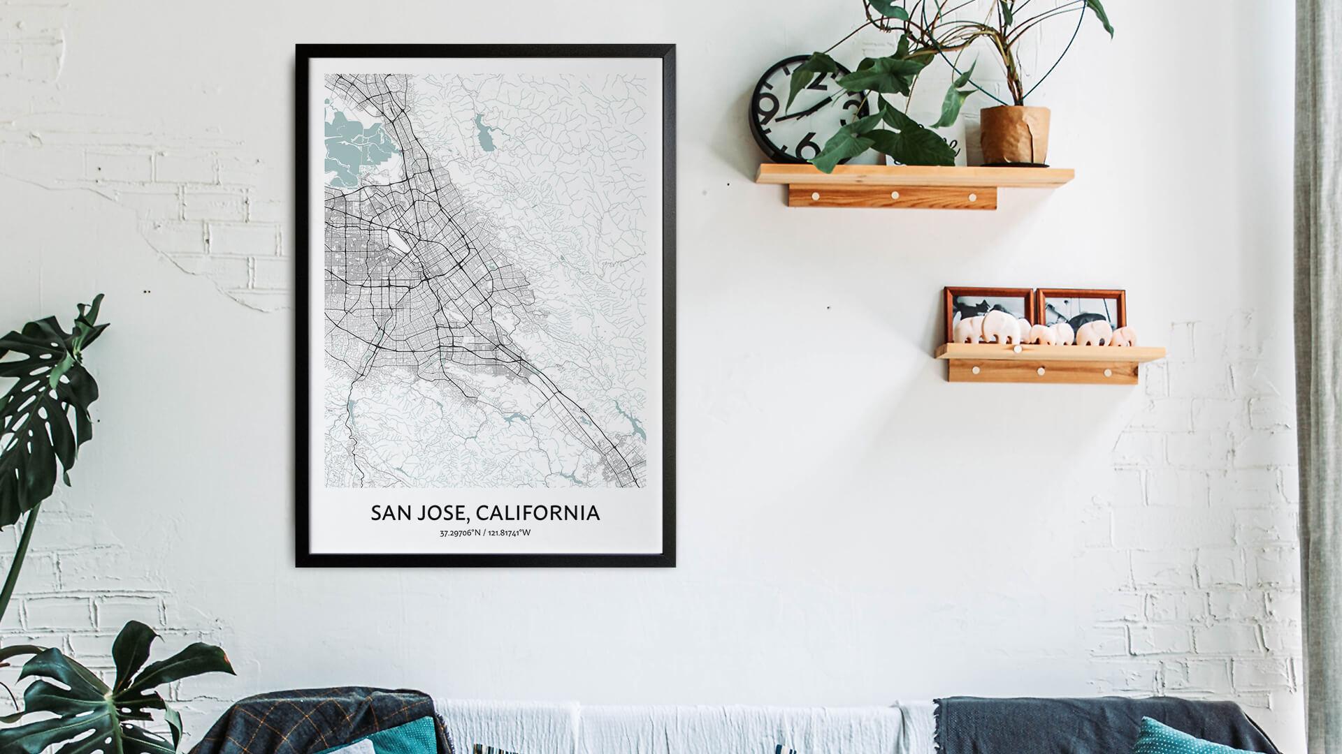 San Jose map art