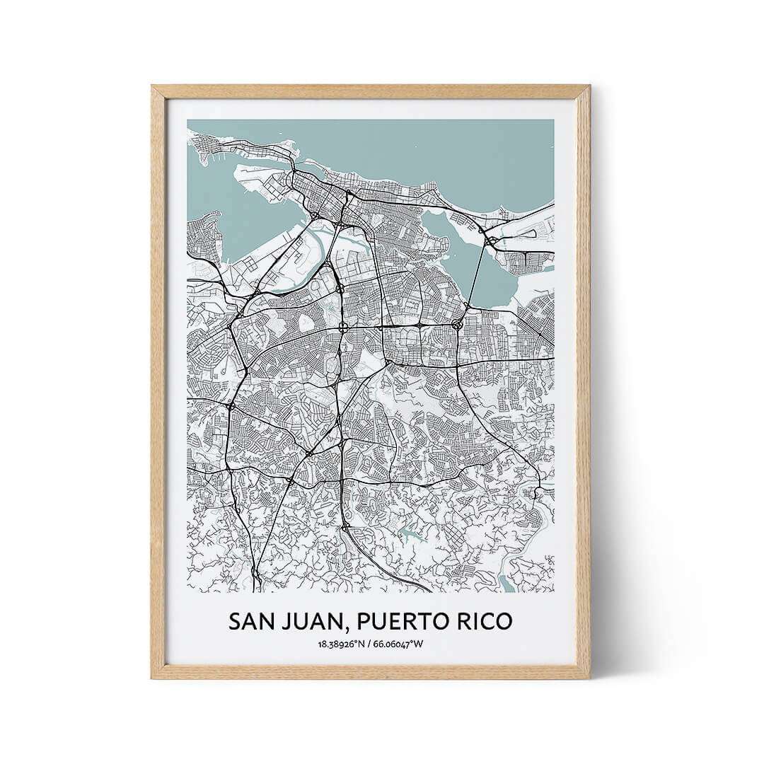 San Juan city map poster