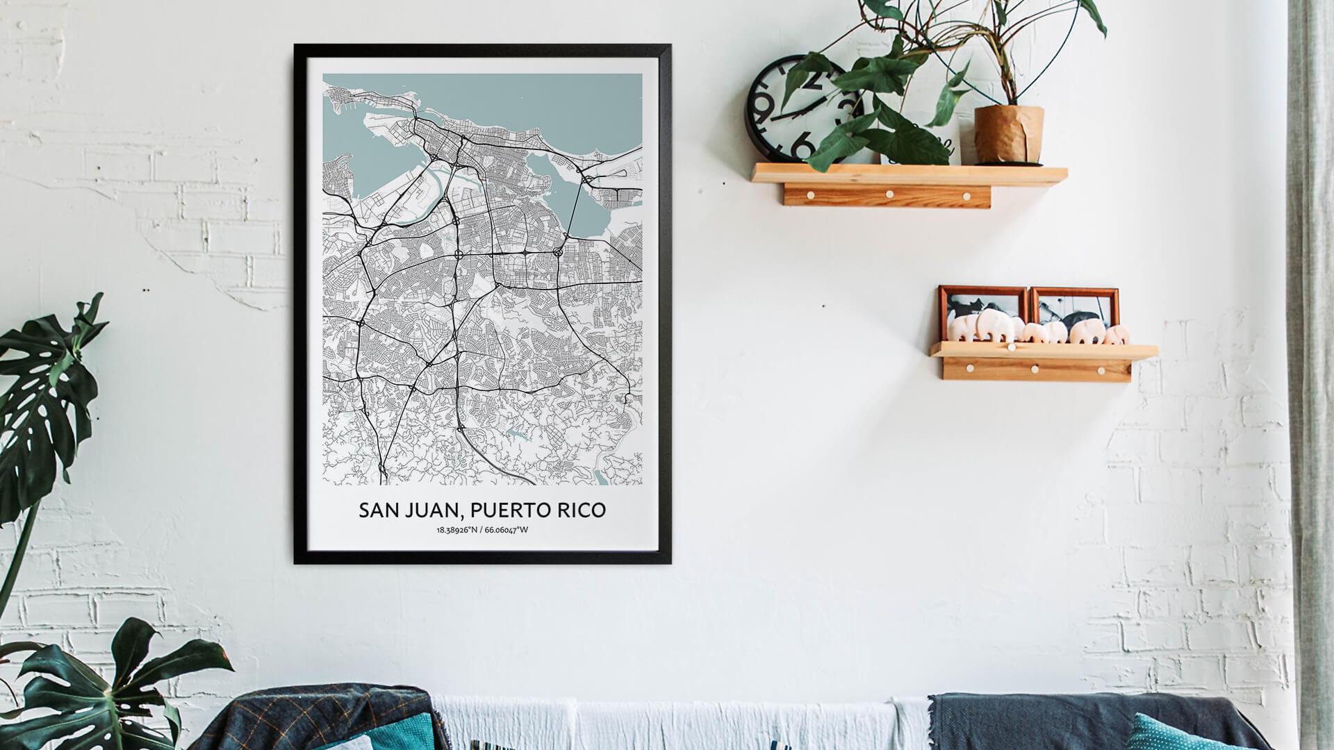 San Juan map art