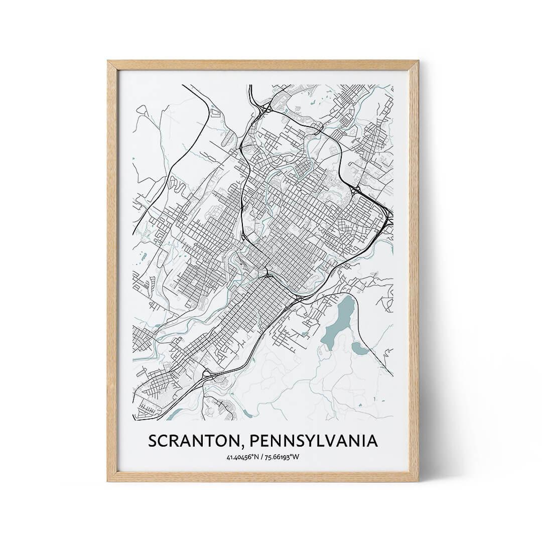 Scranton city map poster