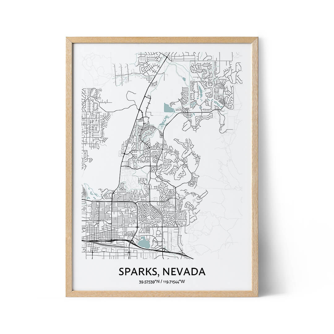 Sparks city map poster