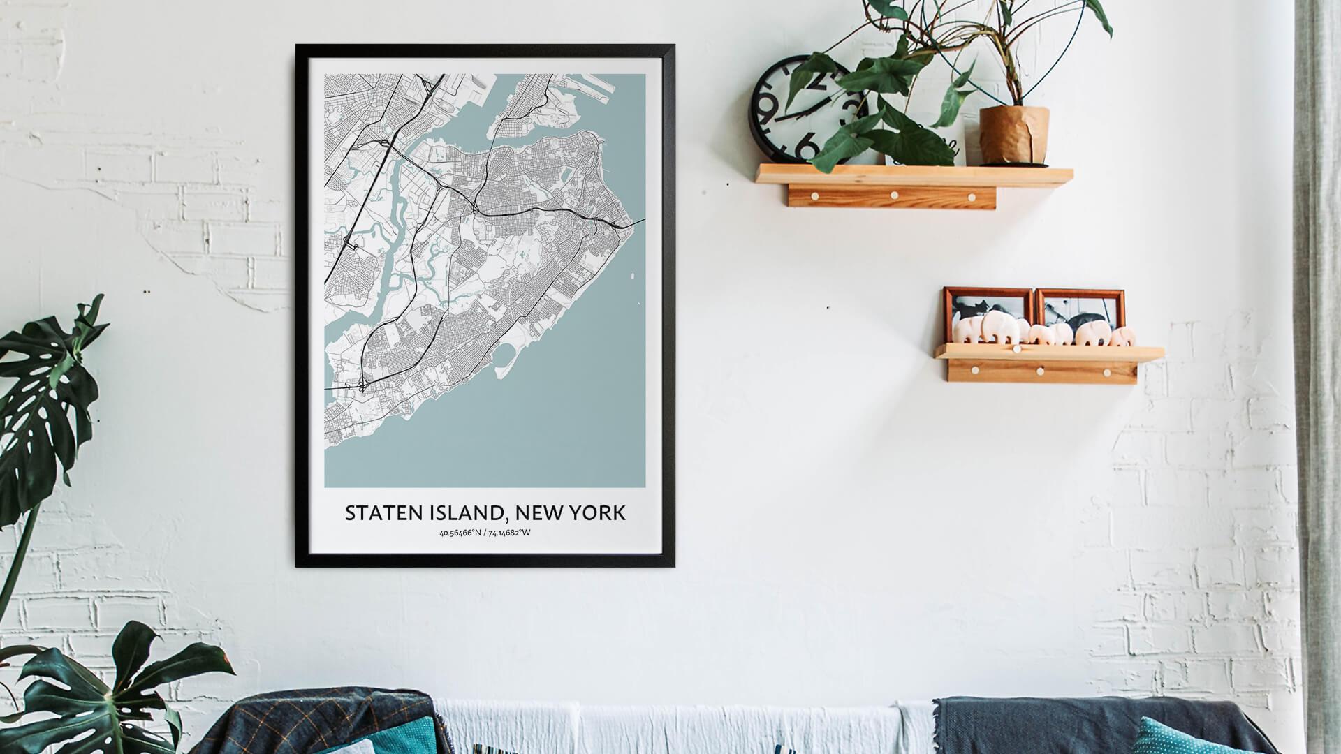 Staten Island map art