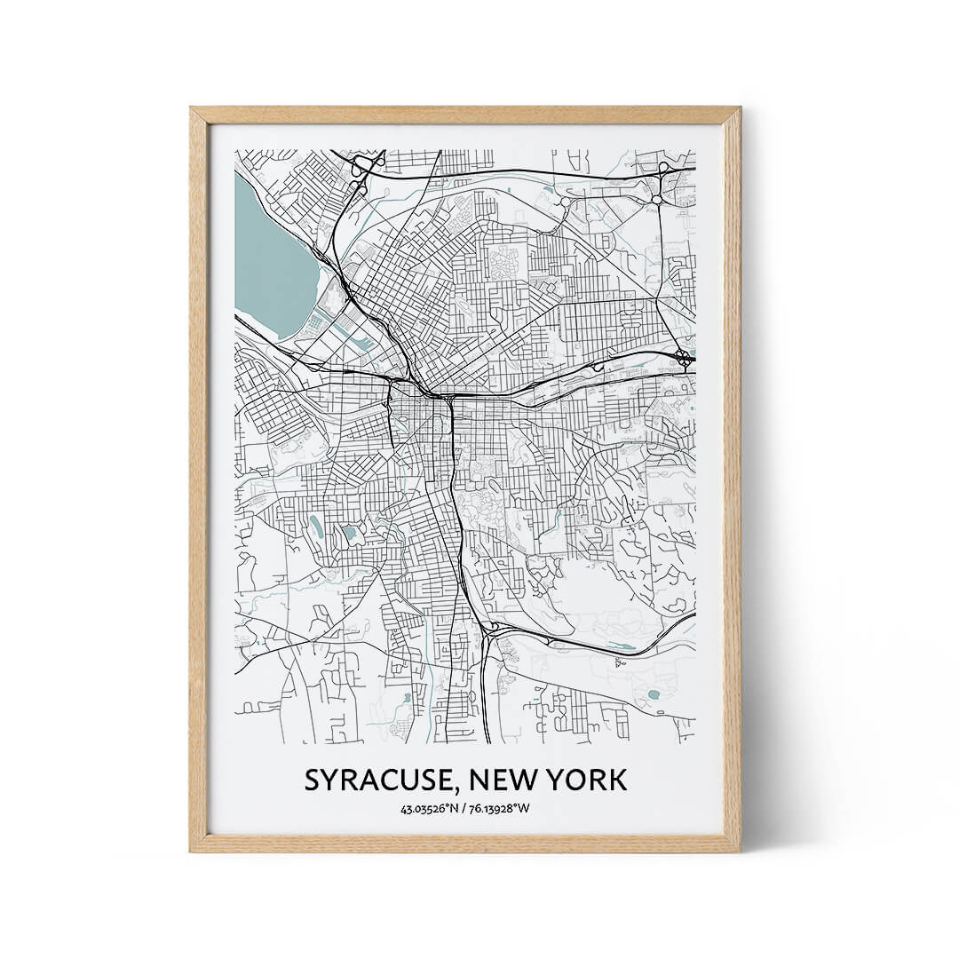Syracuse city map poster