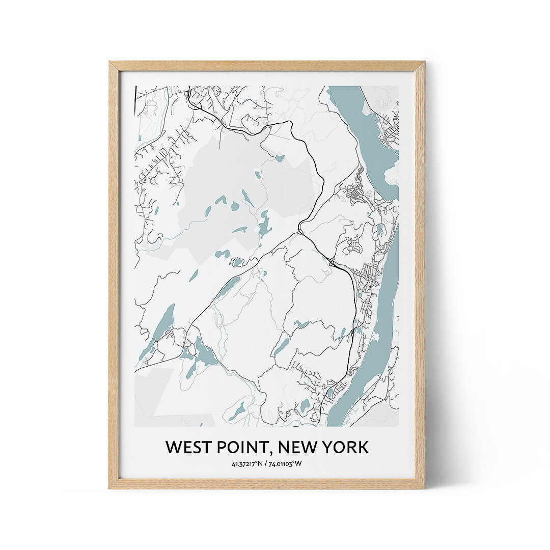 West Point city map poster