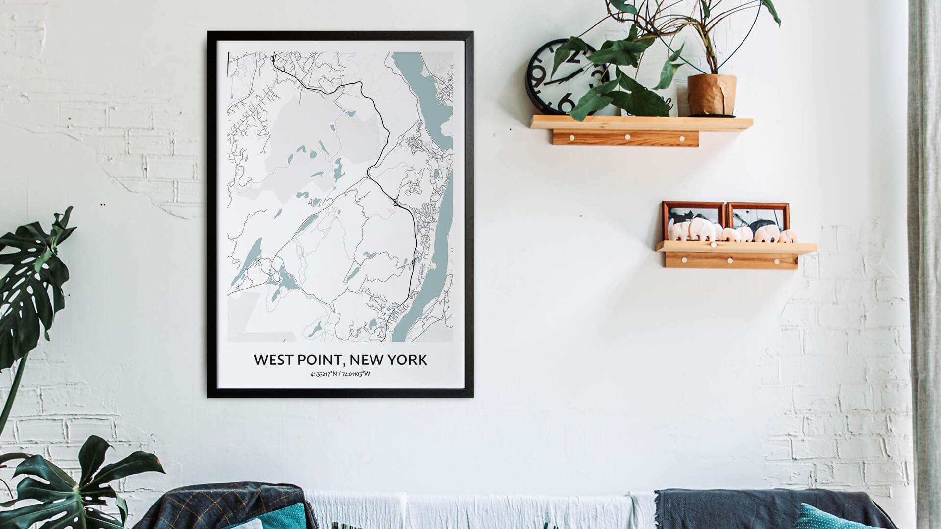 West Point map art