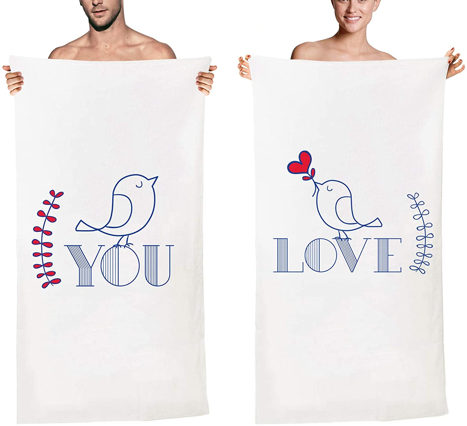 Matching Couple Beach Towels