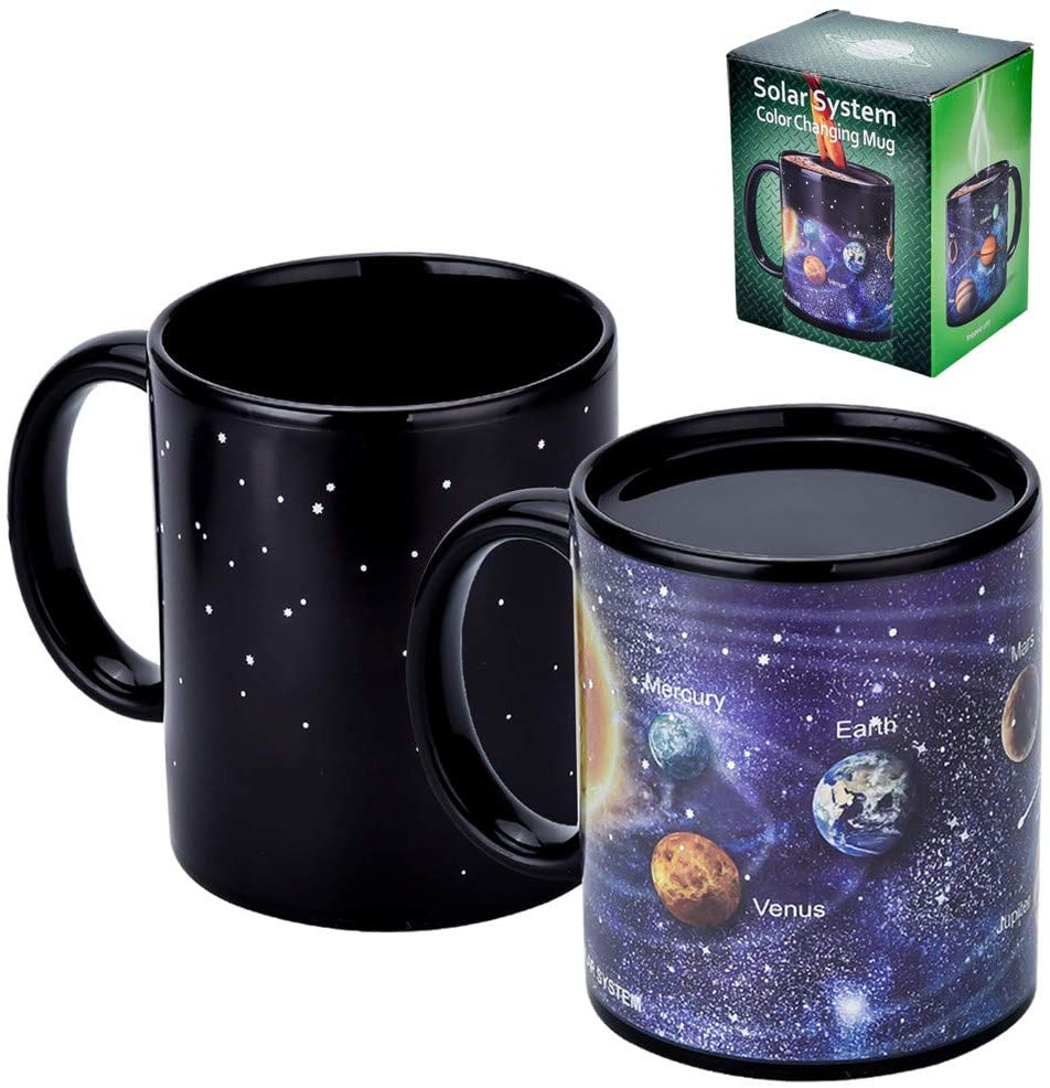 Astronomy gift for coffee lovers - Solar System Magic Heat-Changing Mug