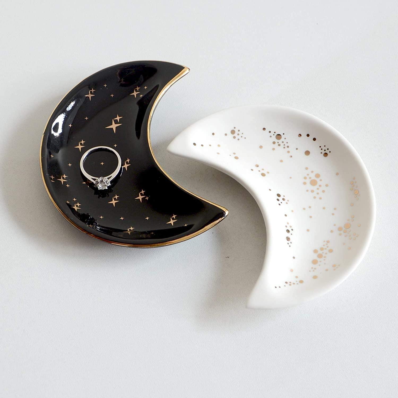 Moon-Shaped Jewelry Dish Tray