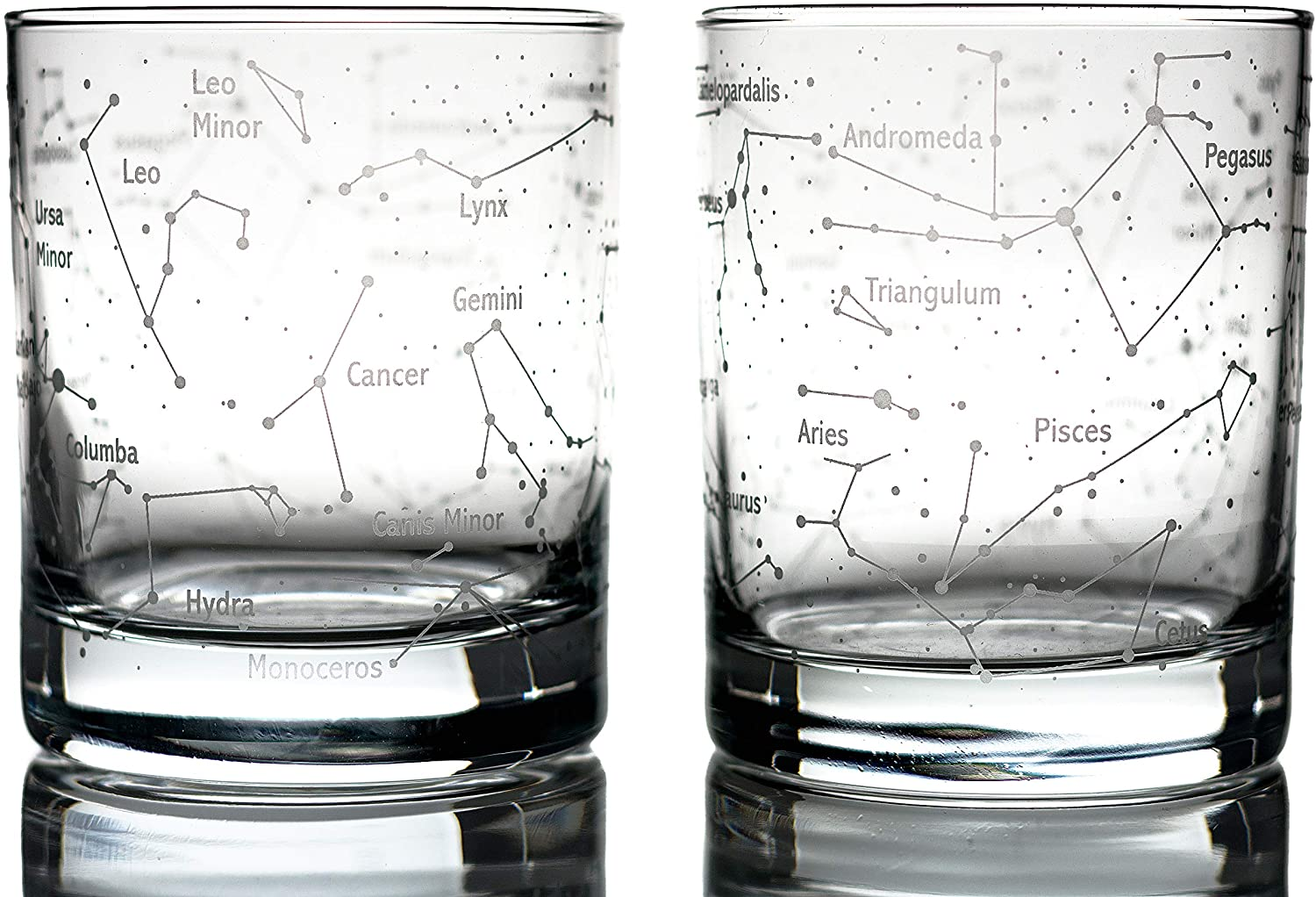 Sky & Constellations Whiskey Glasses - astronomy gift for whiskey lovers