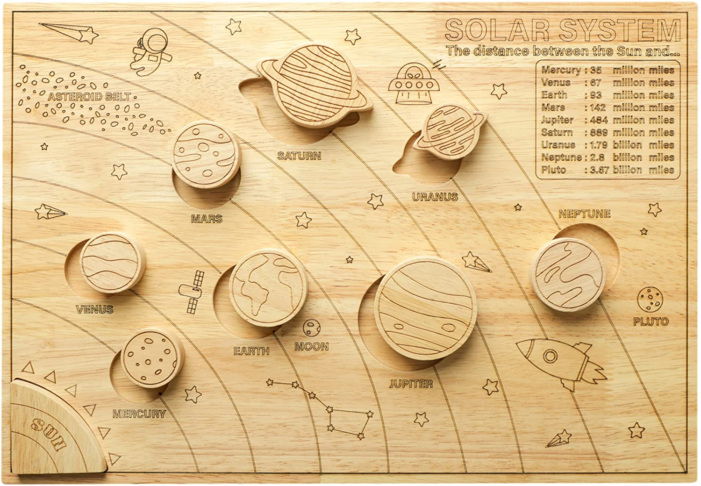 Educational, Astronomy gift for kids - Solar System Model Board
