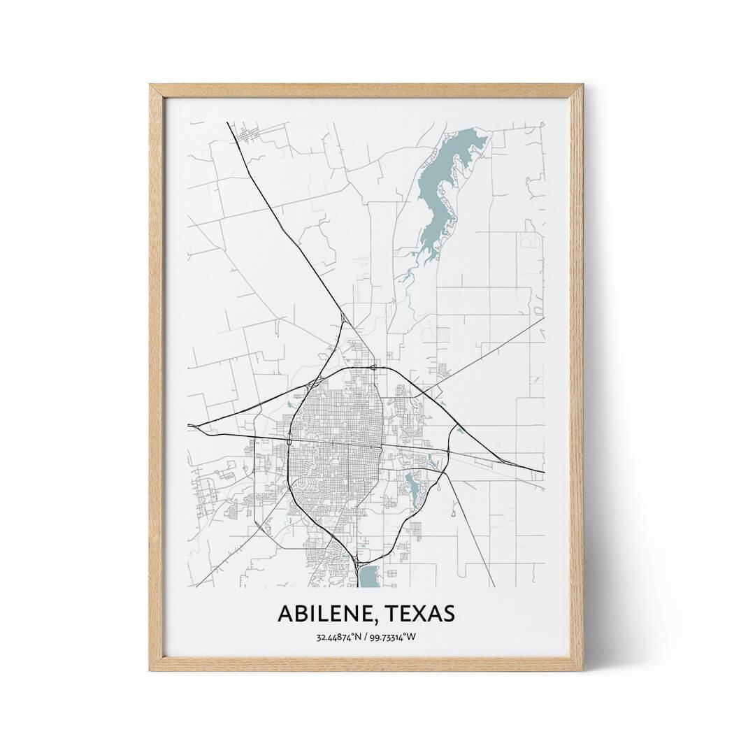 Abilene city map poster