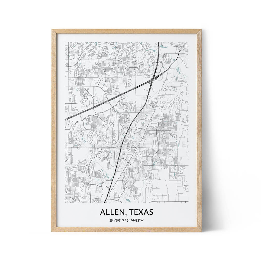 Allen City Map Poster
