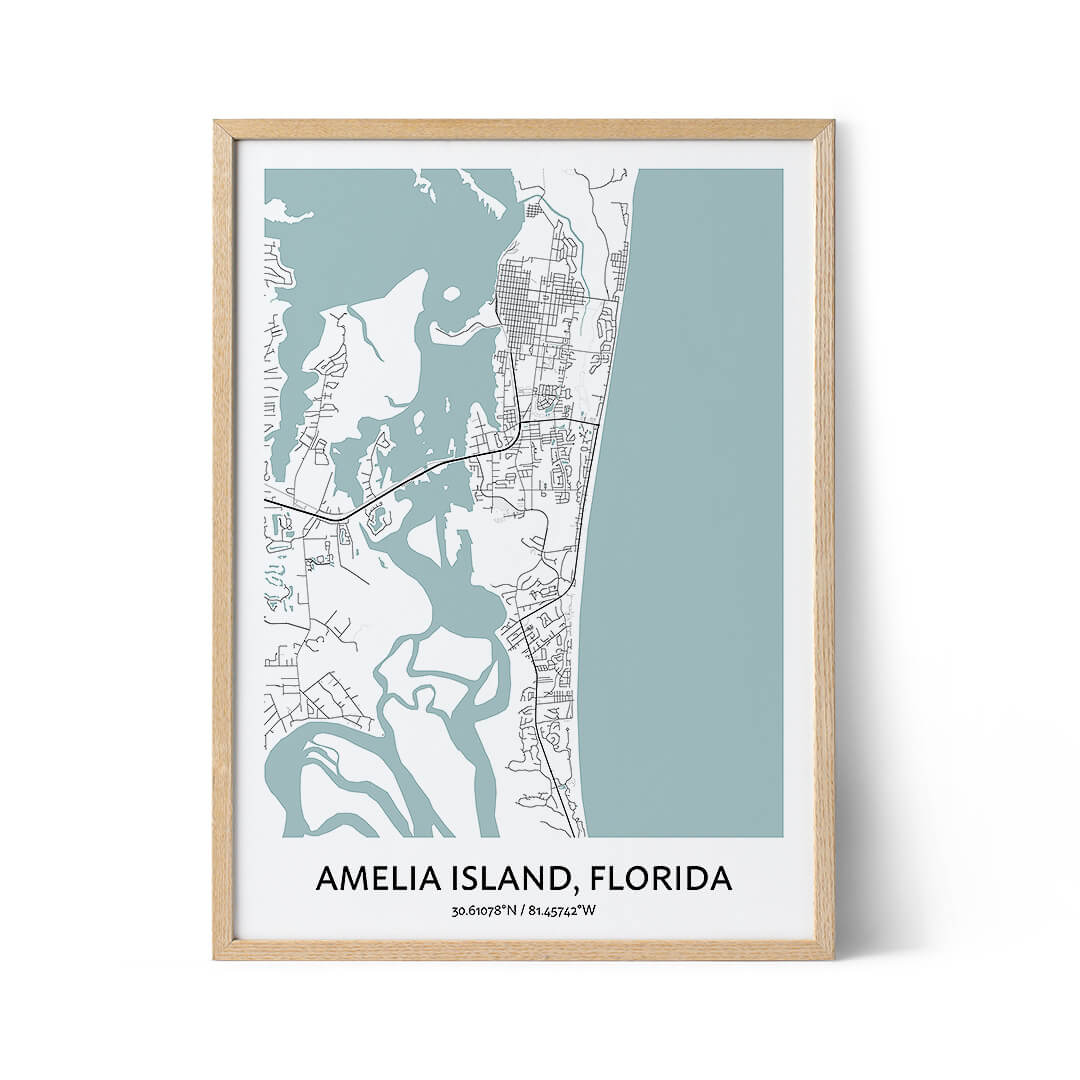 Amelia Island city map poster
